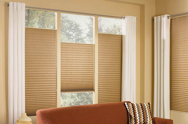 2 sides vertical pleated blinds